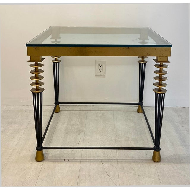 Gold 1980s Hollywood Regency Larry Laslo for Directional Side Table For Sale - Image 8 of 8