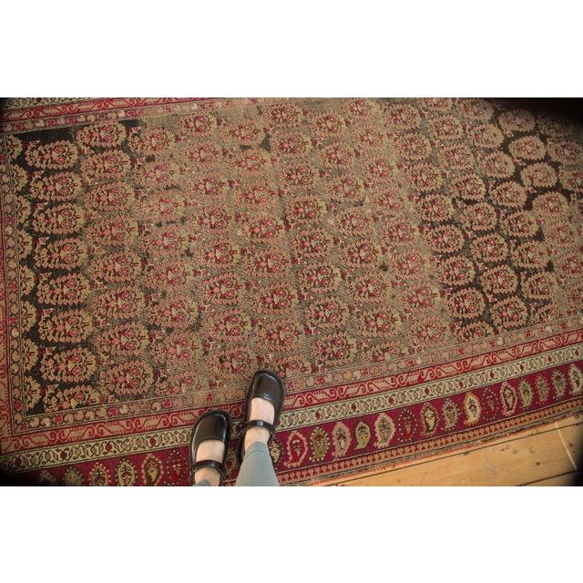 "Shabby Chic Antique Karabagh Carpet - 5'2"" x 9'4"" For Sale - Image 3 of 11"