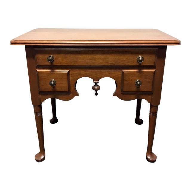 Pennsylvania House Cherry Queen Anne Diminutive Lowboy Chest Nightstand For Sale