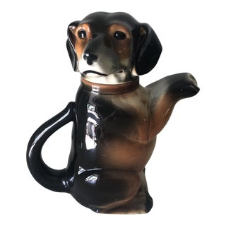 1960s German Dachshund Teapot For Sale