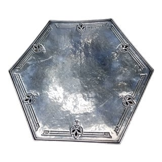 Sheffield Hand Hammered Deco Tray For Sale