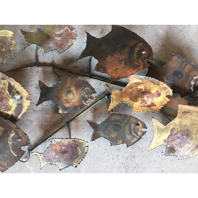 Curtis Jere Style Fish Wall Sculpture - Image 4 of 6