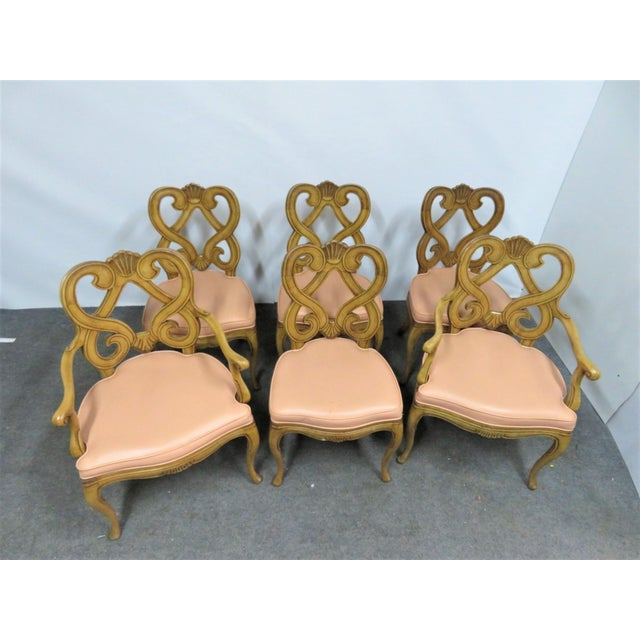 French Louis XV Style Maple Shell Carved Dining Chairs- Set of 6 For Sale - Image 3 of 10