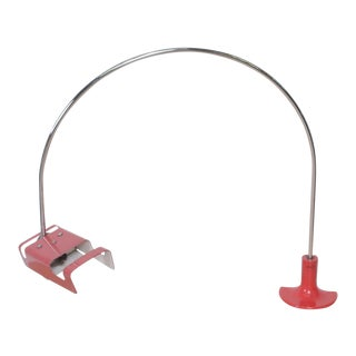 1960s Joe Colombo Minimalist Arched Red Spider Desk Task Lamp, Italy For Sale