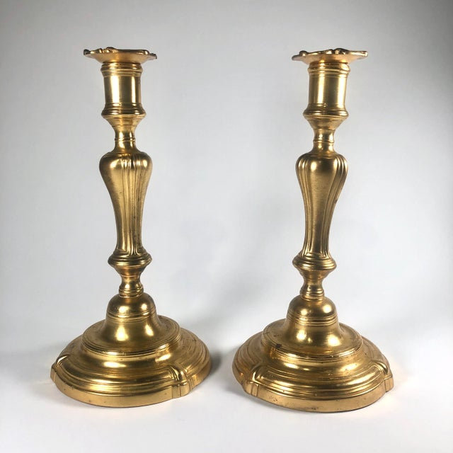 Mid 18th Century Louis XV Period Ormolu Candlesticks - a Pair For Sale In Cleveland - Image 6 of 6