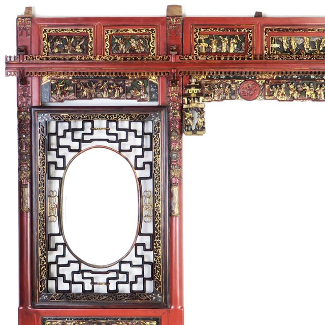Asian Chinese Opium Wedding Bed Intricately Carved Panel For Sale - Image 3 of 13