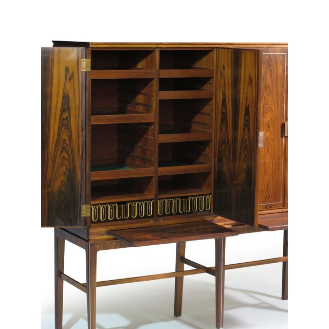 Georg Kofoed Rosewood Cabinet with Eight-Karat White Gold Inlay For Sale In San Francisco - Image 6 of 10