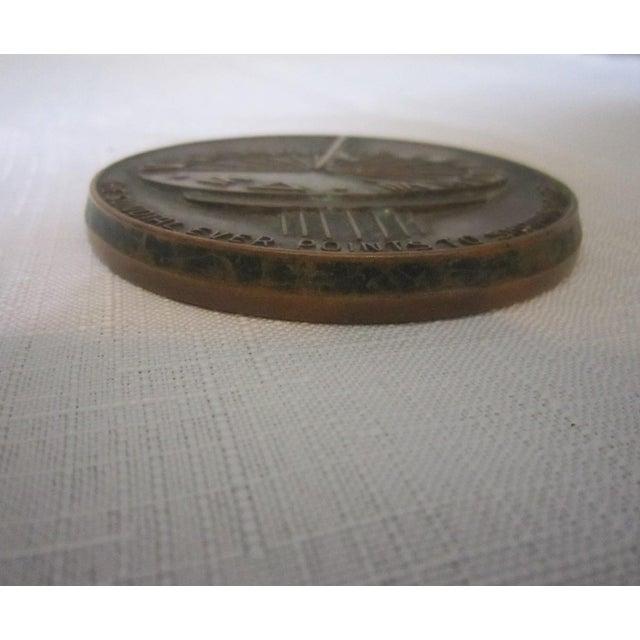 Art Nouveau Sundial Bronze Medal For Sale - Image 3 of 5