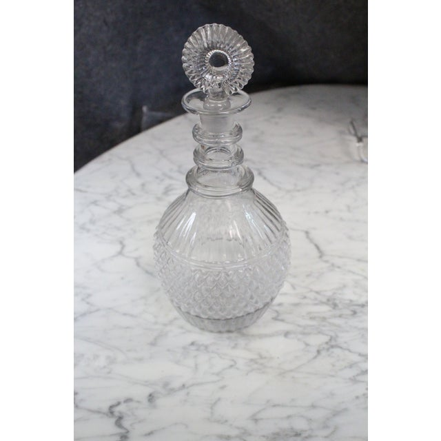 Glass Mid 19th Century Blown Three-Mold Glass Decanter For Sale - Image 7 of 7