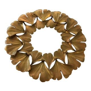 Traditional Michael Aram Ginko Gold Trivet For Sale