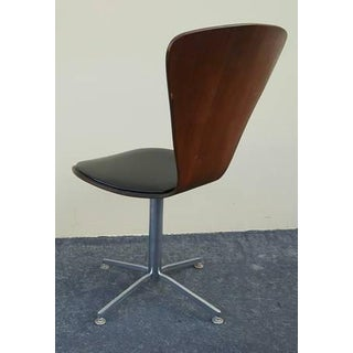 1960s Danish Mid-Century Modern Arne Jacobsen Walnut & Leather Task Chair Preview