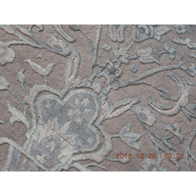 Blue & Gray Hand Knotted Indian Rug - 8′ × 10′ - Image 2 of 9