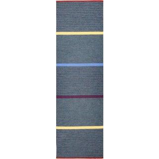 Vintage Mid-Century Gunilla Lagerhem Ullberg Scandinavian Runner Rug - 2′10″ × 9′1″ For Sale