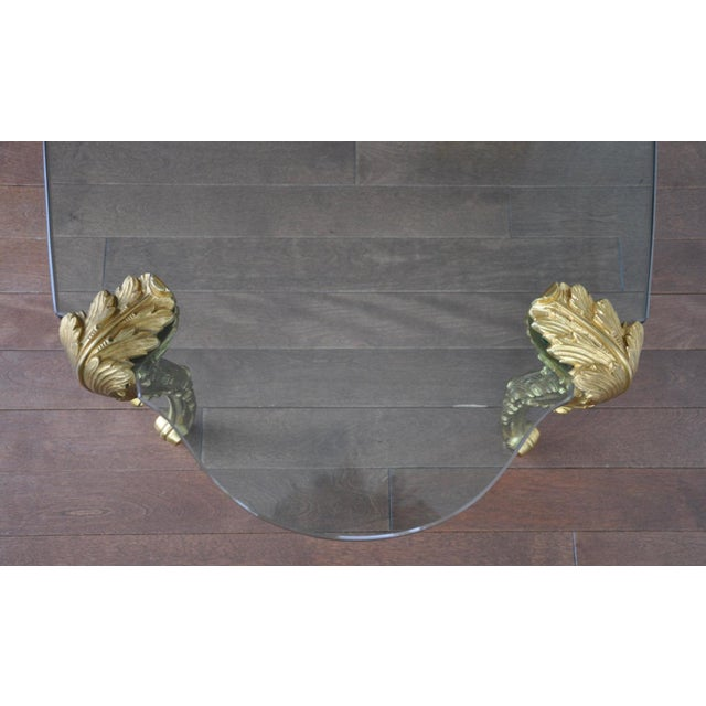 Louis XV Glass Top Coffee Table - Image 4 of 5