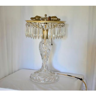 1930s Art Deco Large Cut Glass & Crystal Domed Shaded Table Lamp Preview