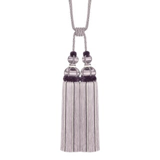 """Double Tassel Tieback With Cut Ruche- Tassel Height 17"""" For Sale"""