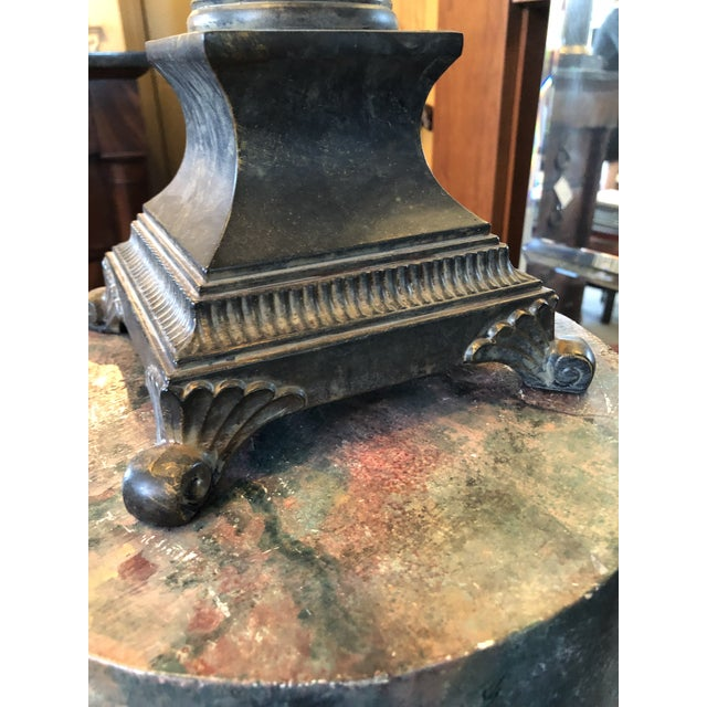 Verdigris Neoclassical Crystal Table Lamp For Sale - Image 8 of 13