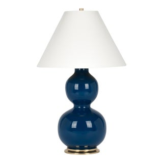 Christopher Spitzmiller Collection Natalie Lamp in Midnight Blue / Polished Brass For Sale