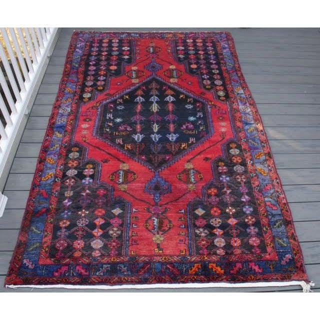 "Vintage Persian Zanjan Rug - 5'4"" x 8'10"" - Image 2 of 9"