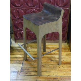 Modern Lee Industries Reclaimed Leather Bar Stools- A Pair Preview