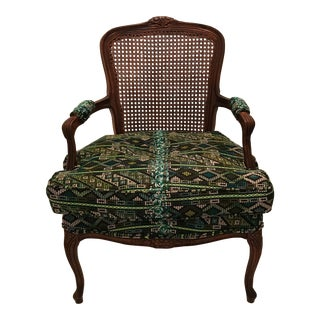 Guatemalan Upholstered Bergere Chair