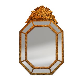 Antique French Louis XV Repousse Gilt Mirror
