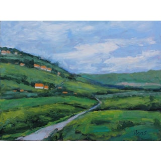 A Countryside Drive, Original Oil Painting Landscape For Sale