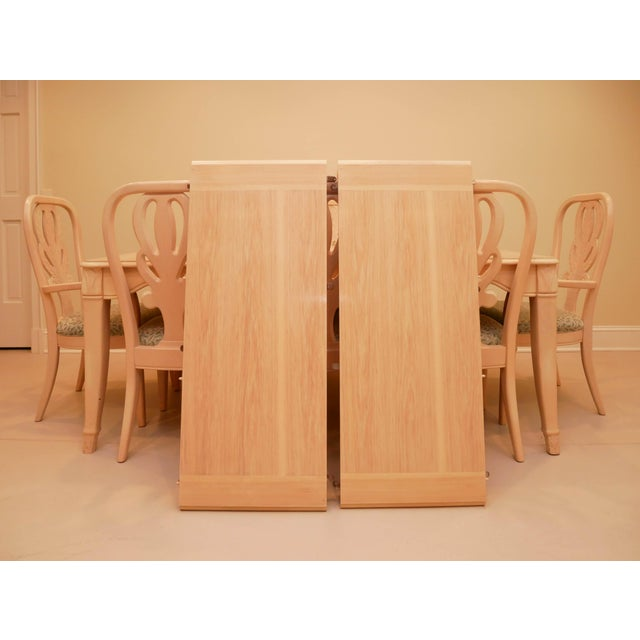 """Wood 20th Century Bernhardt """"Palm Court"""" Dining Table & 8 Chairs - 9 Pieces For Sale - Image 7 of 9"""
