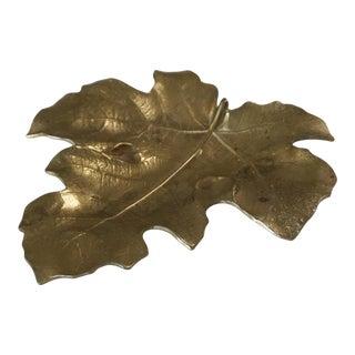1948 Vintage Va Metalcrafters 4-13 Brass Fig Leaf