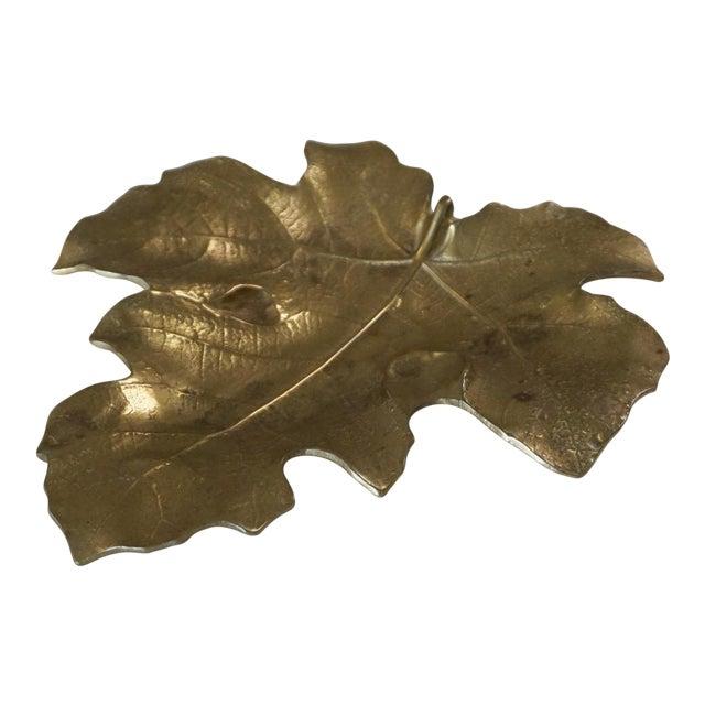 1948 Vintage Va Metalcrafters 4-13 Brass Fig Leaf For Sale