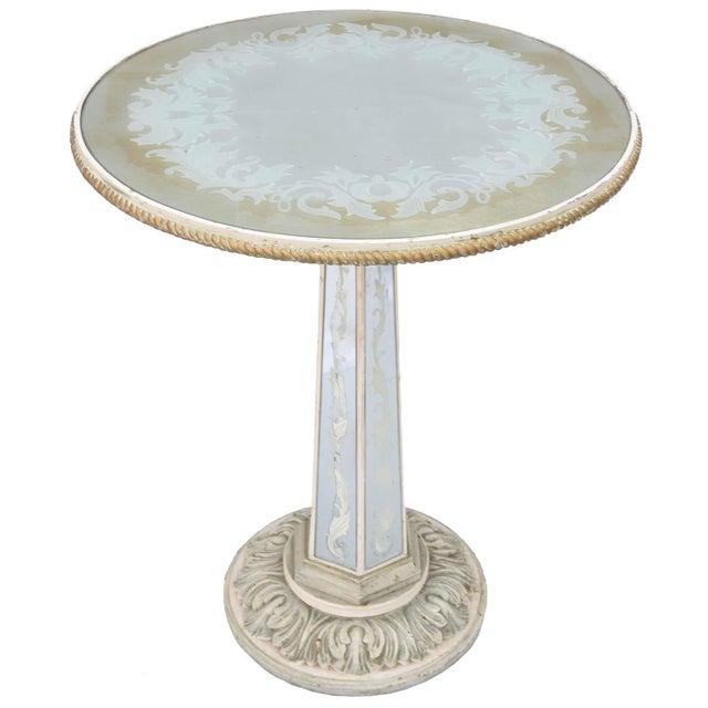 Italian Églomisé Occasional Pedestal Table For Sale - Image 12 of 12