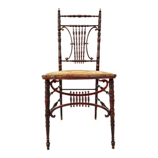 Antique Heywood Brothers & Wakefield Company Victorian Side Chair For Sale