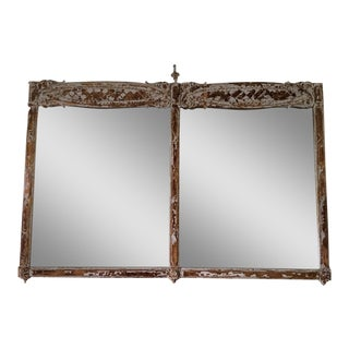 French Country Distressed Gilt Mirror For Sale