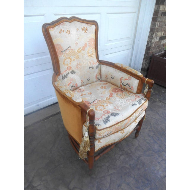 Awesome Vintage Heywood Wakefield Era Club / Lounge / Fireside Arm Chair with a solid Wood Frame. No labels as the chair...