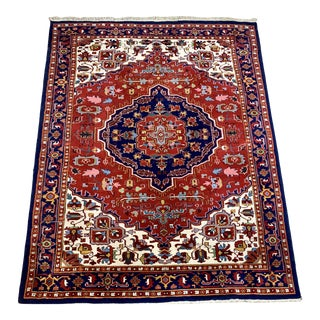 Large Vintage Bahtiari Handwoven Persian Fine Wool Rug For Sale