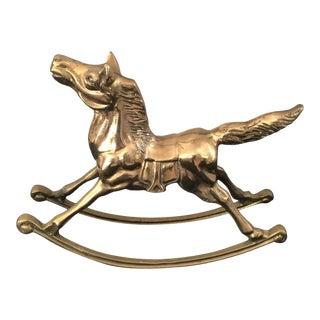 Brass Horse - Vintage Brass Rocking Horse For Sale