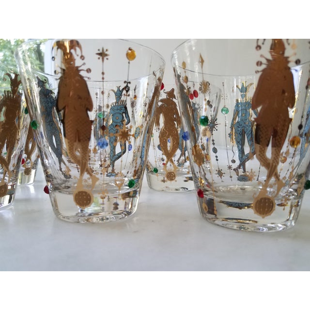 Culver Mardi Gras Glasses - Set of 6 For Sale In Chicago - Image 6 of 10