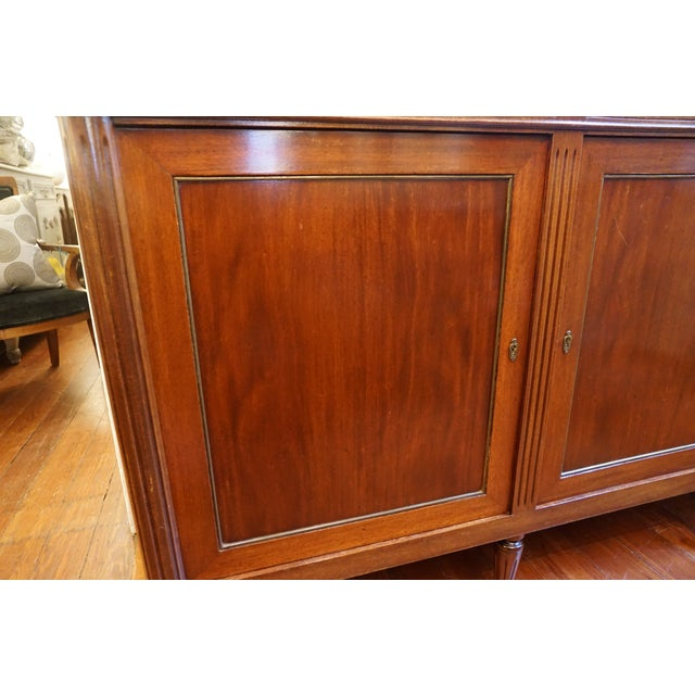 Wood 19th Century Louis XVI Walnut Enfilade With Marble Top For Sale - Image 7 of 12
