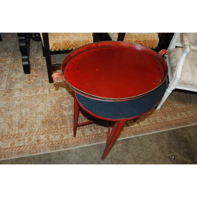 English Red Oval Table Tray - Image 8 of 8