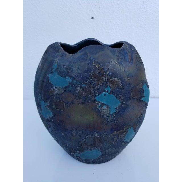 Tony Evans Art Raku Vase For Sale - Image 10 of 10