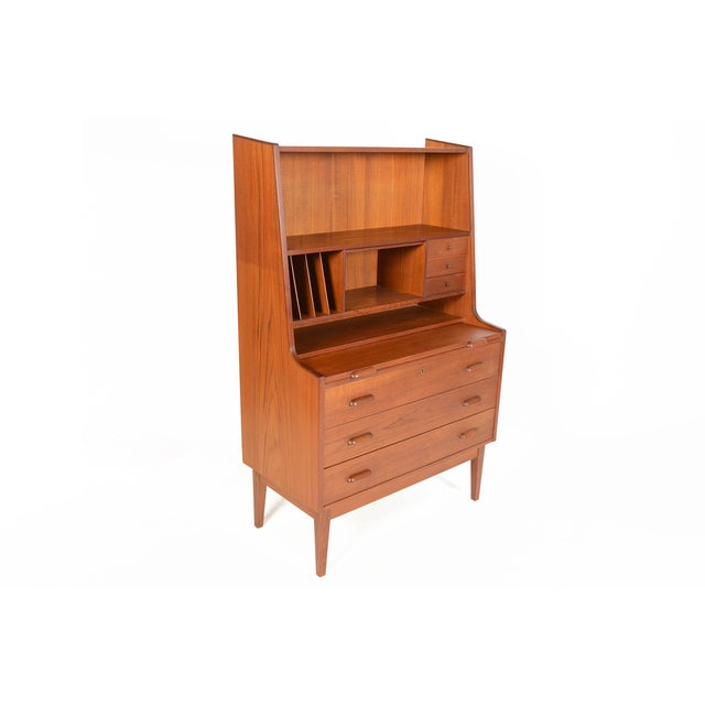 Danish Modern Secretary With Bookcase in Teak - Image 2 of 9