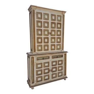 Italian Neoclassical Venetian Style Bookcase / Cabinet .