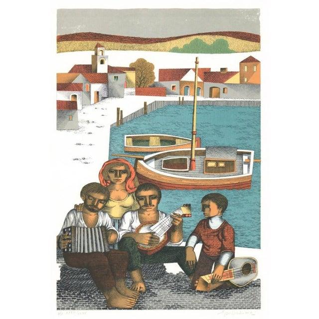 1970s Jorge Dumas Festejo Figural Lithograph For Sale
