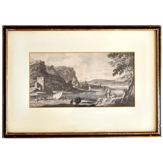 18th Century Engraving of a Marco Ricci Landscape by Giovanni Volpato For Sale