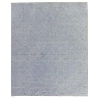 Witney Ivory/Gray Flatweave Wool/Silk Area Rug - 9'x12' For Sale