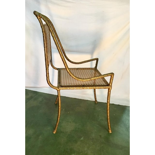 1960s Gilt Metal Chairs - Set of 6 For Sale - Image 5 of 13
