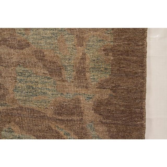 Textile Persian Oushak Medallion & Scroll Design Rug - 12′10″ × 13′6″ For Sale - Image 7 of 9