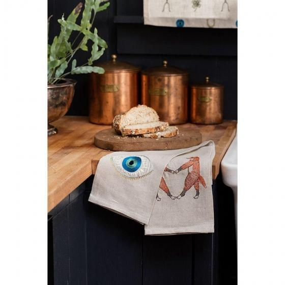 Boho Chic Evil Eye Tea Towel For Sale - Image 3 of 4