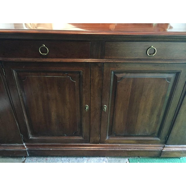Metal Henredon Walnut Buffet ,Console or Cabinet For Sale - Image 7 of 10