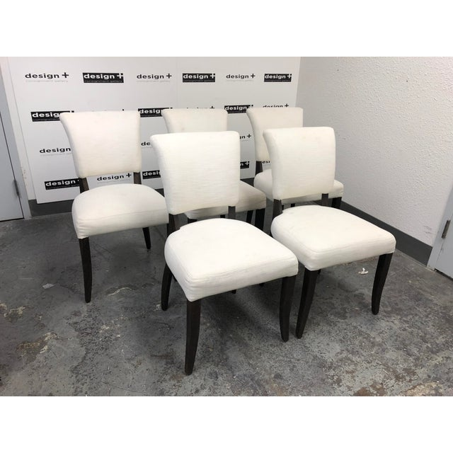 Belgian Set of Five Restoration Hardware Adèle Fabric Side Chairs For Sale - Image 3 of 13